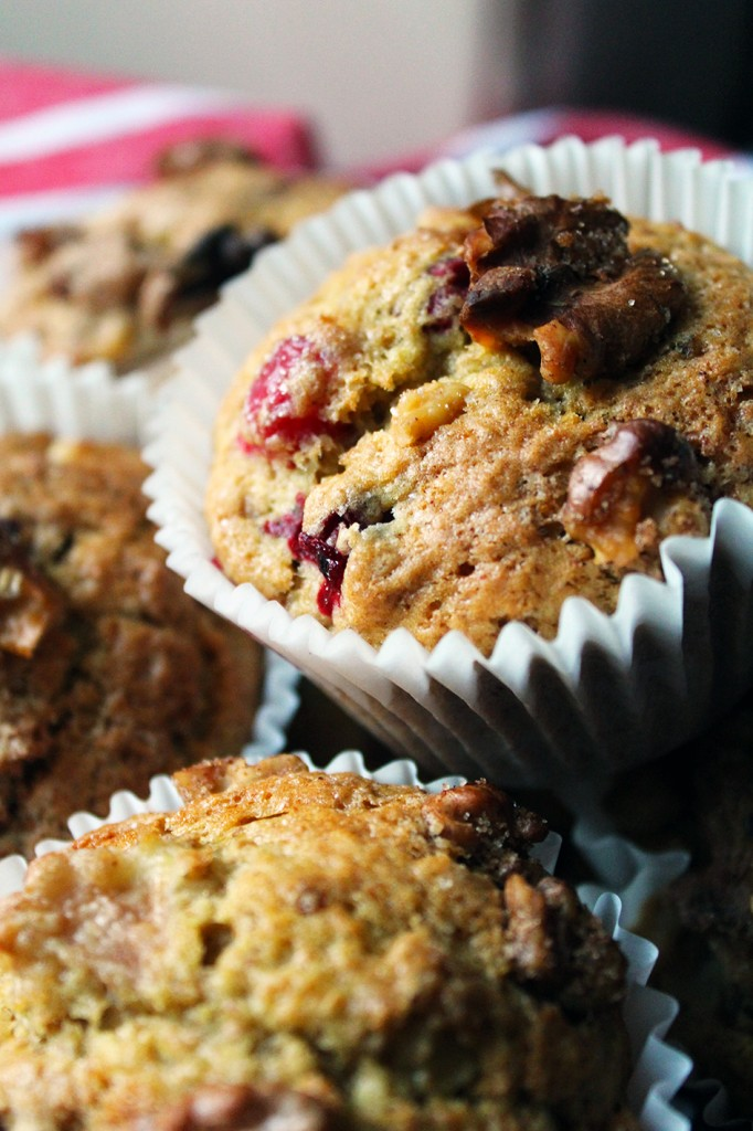 Pear Cranberry Walnut Muffins 5