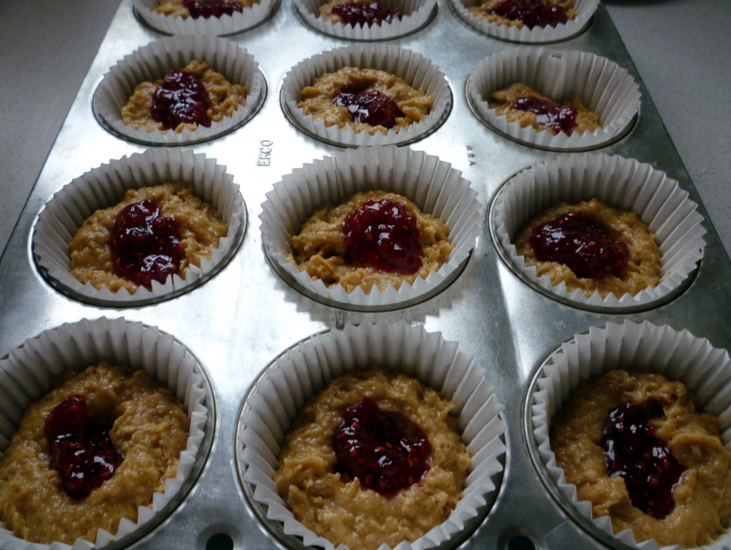 peanut butter and jam muffins 7