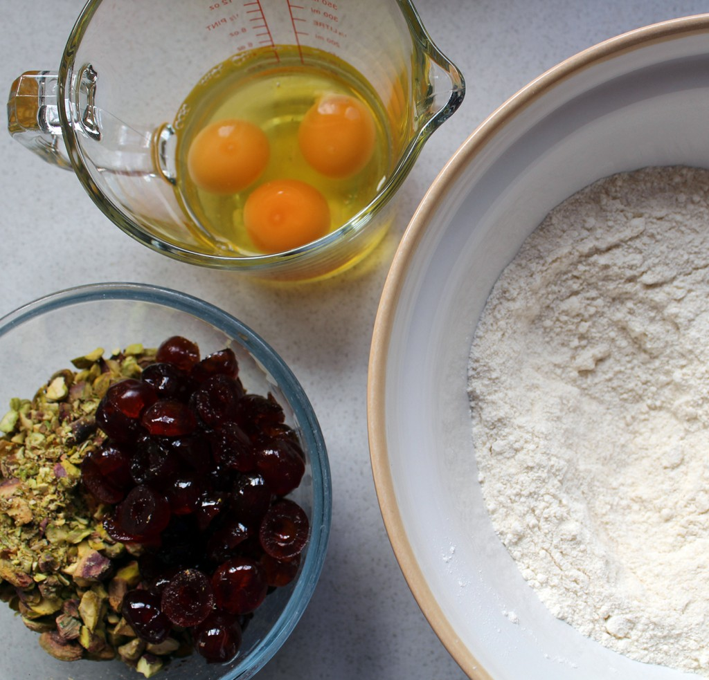 cherry & pistachio biscotti 6