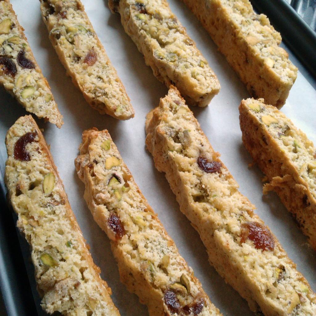 cherry & pistachio biscotti 8