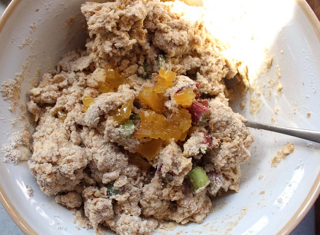 rhubarb ginger scones 06